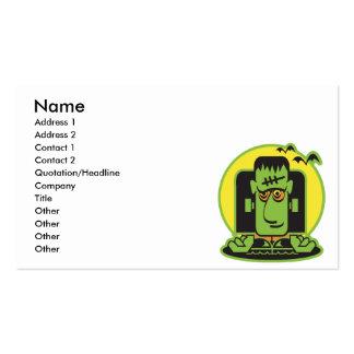 diseño retro del frankenstein tarjetas de visita