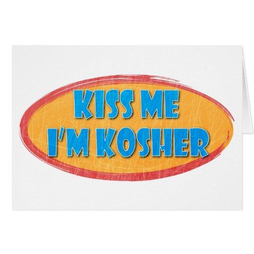 Diseño retro del humor kosher tarjeta de felicitación