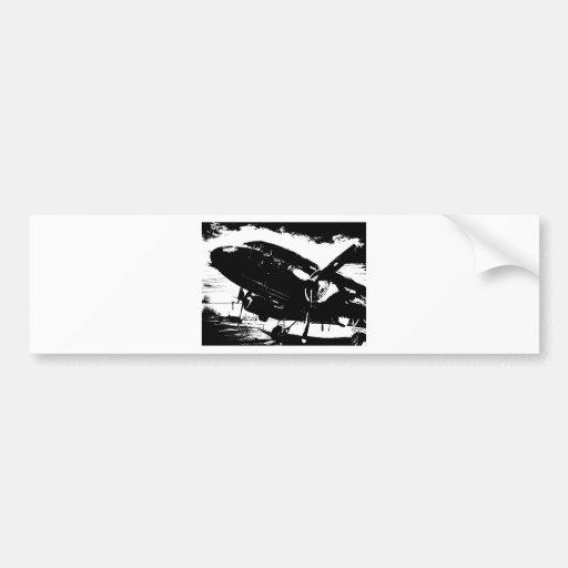 Diseño retro del jet de la aviación del avión del  pegatina de parachoque