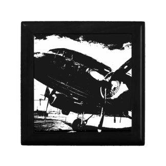 Diseño retro del jet de la aviación del avión del caja de joyas