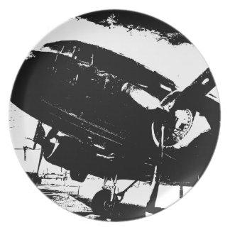 Diseño retro del jet de la aviación del avión del  plato para fiesta