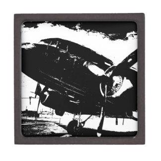 Diseño retro del jet de la aviación del avión del caja de recuerdo de calidad