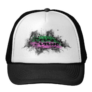 Diseño retro del logotipo de la estación gorras de camionero