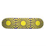 Diseño retro del monopatín de la sol