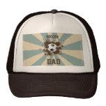 Diseño retro del papá del fútbol gorras de camionero