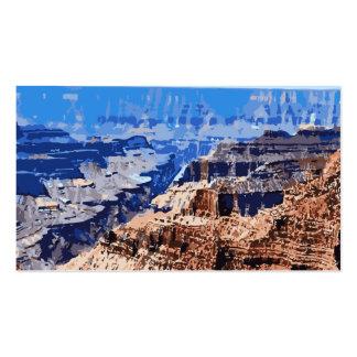 Diseño retro del parque nacional del Gran Cañón Tarjetas De Visita