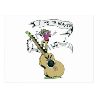 diseño retro del vector de la música del hippie postal