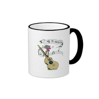 diseño retro del vector de la música del hippie tazas de café