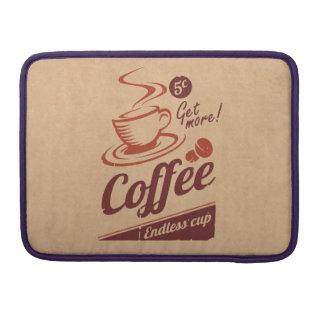 Diseño retro/del vintage clásico del café de la funda para macbooks