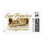 Diseño retro del vintage de San Francisco Franqueo