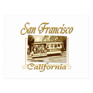 Diseño retro del vintage de San Francisco Tarjeta Postal
