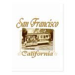 Diseño retro del vintage de San Francisco Tarjetas Postales