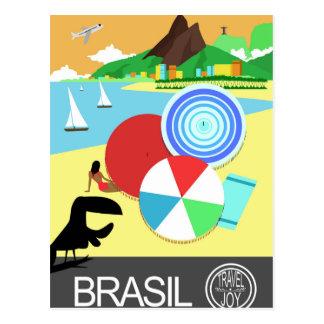 Diseño retro del vintage del Brasil Postal
