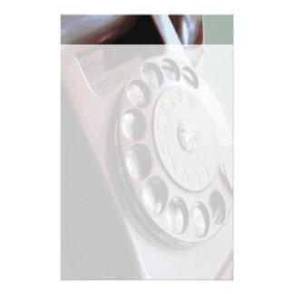 Diseño retro del vintage del teléfono de dial rota papelería personalizada