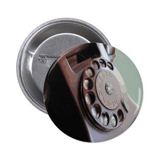 Diseño retro del vintage del teléfono de dial rota pin