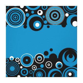 Diseño retro impresión en lienzo