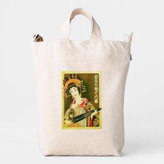 Diseño retro japonés I del chica de geisha del Bolsa De Lona Duck