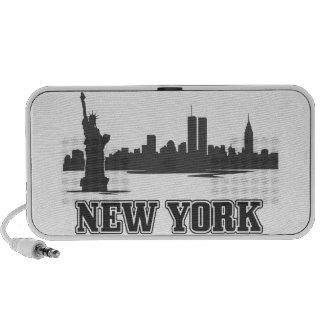 diseño retro ny del vintage de New York City Laptop Altavoz