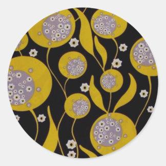 Diseño retro pegatina redonda