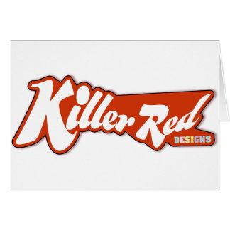 Diseño retro rojo del logotipo del asesino tarjeta