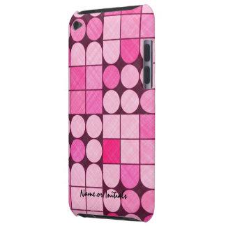 Diseño retro rosado de la tela iPod touch protectores