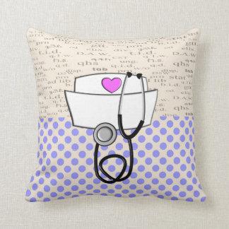 Diseño reversible púrpura de la almohada de la enf