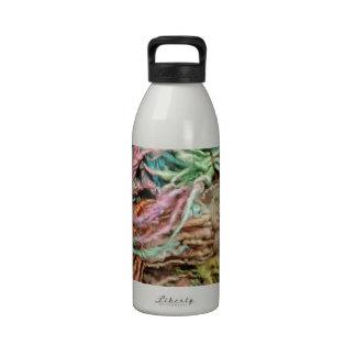 Diseño rizado de la foto del hilado de lanas de la botella de agua reutilizable
