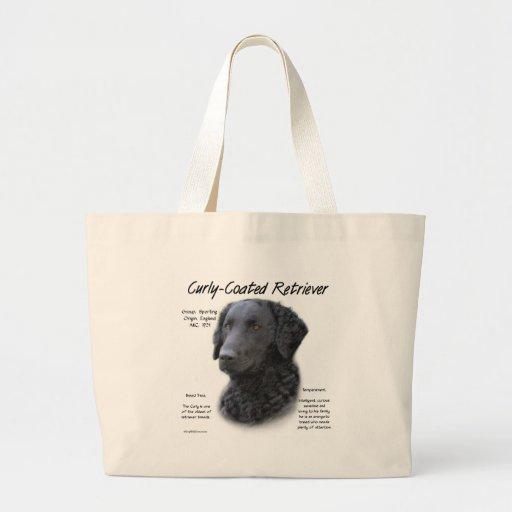 Diseño Rizado-Revestido de la historia del perro p Bolsa