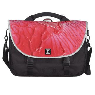 Diseño rojo abstracto bolsa para ordenador
