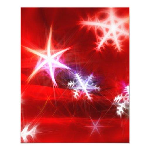 """Diseño rojo abstracto del navidad del copo de niev folleto 4.5"""" x 5.6"""""""