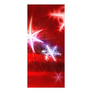 Diseño rojo abstracto del navidad del copo de niev tarjeta publicitaria a todo color