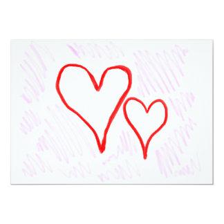 """Diseño rojo, amor o tarjeta del día de San Invitación 5"""" X 7"""""""