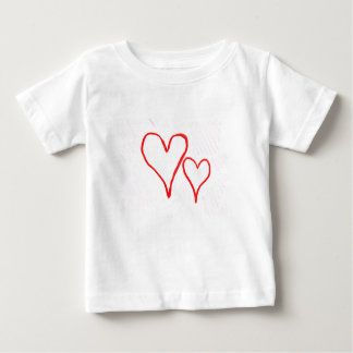 Diseño rojo, amor o tarjeta del día de San Playeras