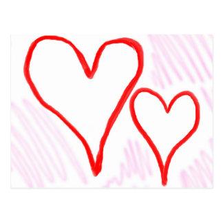 Diseño rojo, amor o tarjeta del día de San Postales