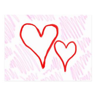 Diseño rojo, amor o tarjeta del día de San Tarjetas Postales