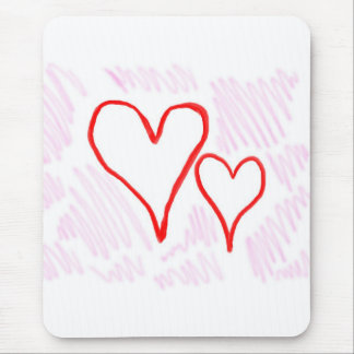 Diseño rojo, amor o tarjeta del día de San Valentí Alfombrillas De Ratones