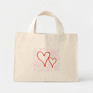 Diseño rojo, amor o tarjeta del día de San Valentí Bolsa Tela Pequeña