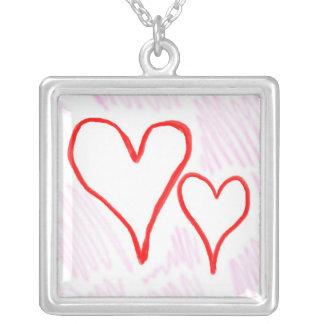 Diseño rojo, amor o tarjeta del día de San Valentí Colgante Cuadrado