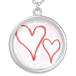 Diseño rojo, amor o tarjeta del día de San Valentí Colgante Redondo