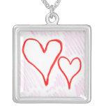 Diseño rojo, amor o tarjeta del día de San Valentí Pendiente