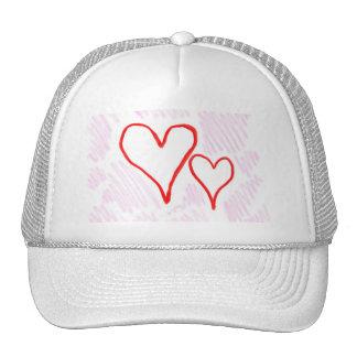 Diseño rojo, amor o tarjeta del día de San Valentí Gorras