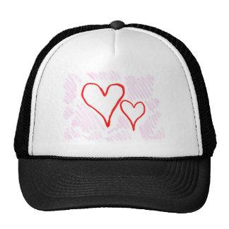 Diseño rojo, amor o tarjeta del día de San Valentí Gorro
