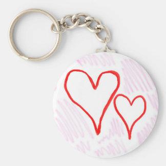Diseño rojo, amor o tarjeta del día de San Valentí Llavero Redondo Tipo Pin