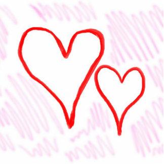 Diseño rojo, amor o tarjeta del día de San Valentí Pin Fotoescultura