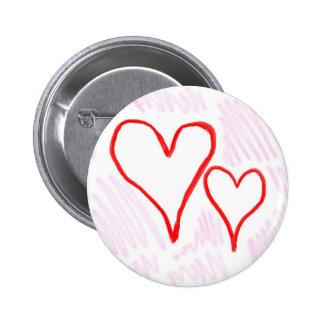 Diseño rojo, amor o tarjeta del día de San Valentí Pin Redondo 5 Cm