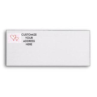 Diseño rojo, amor o tarjeta del día de San Valentí Sobres