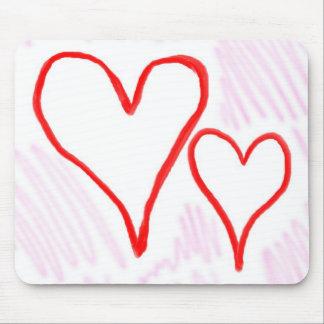 Diseño rojo, amor o tarjeta del día de San Valentí Tapete De Raton