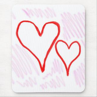 Diseño rojo, amor o tarjeta del día de San Valentí Tapete De Ratones