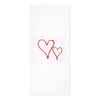 Diseño rojo, amor o tarjeta del día de San Valentí Tarjetas Publicitarias