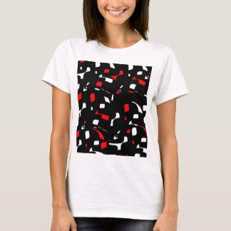Diseño rojo, blanco y negro simple playera